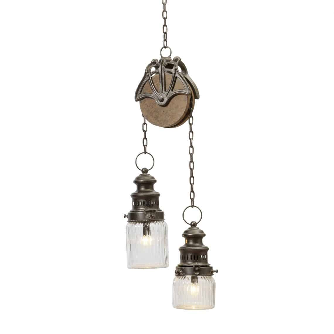 Gerson Metal And Gl 47 Inch Pulley Hanging Battery Operated Lanterns