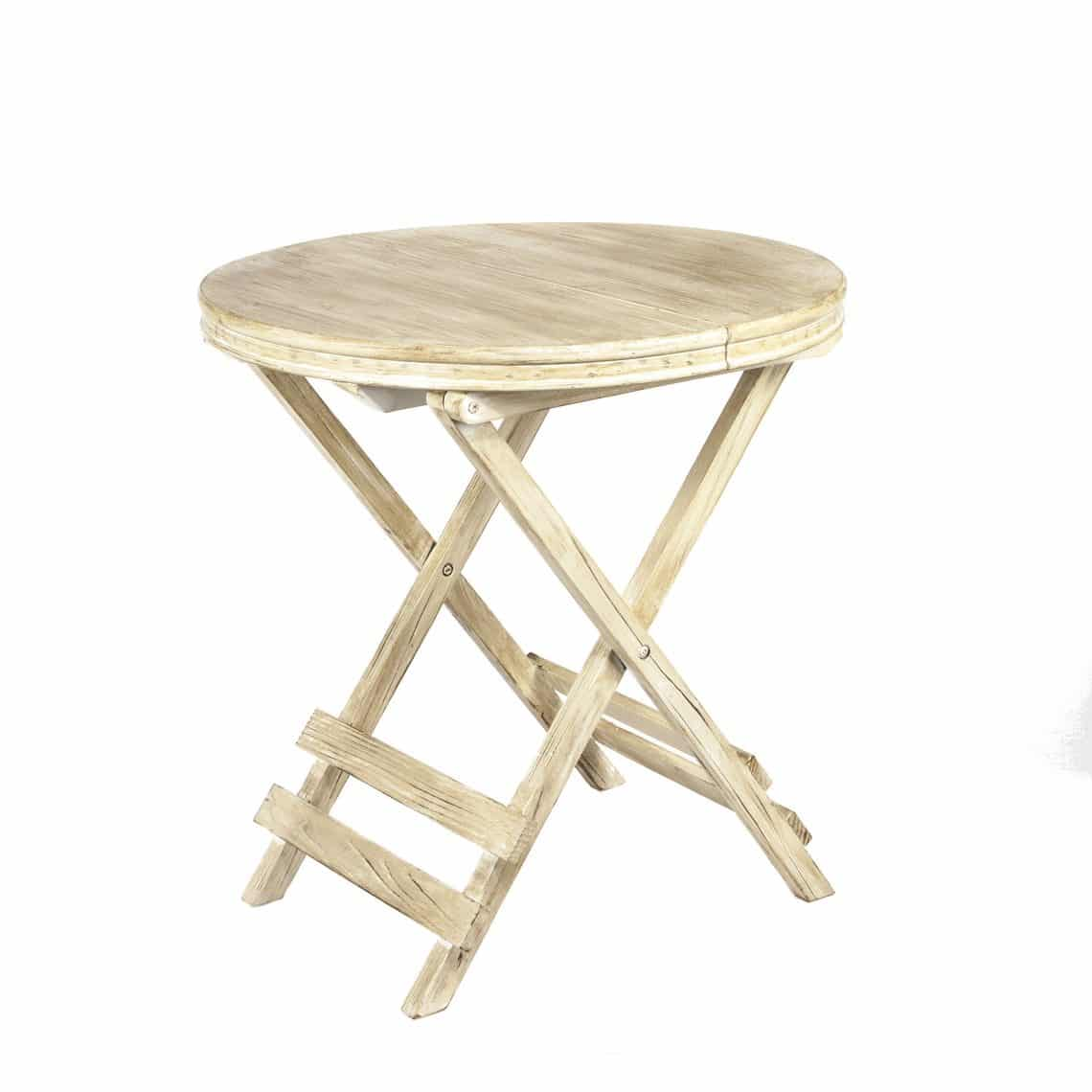 29 Inch Tall, 28 Inch Diameter Foldable Round Wood Table
