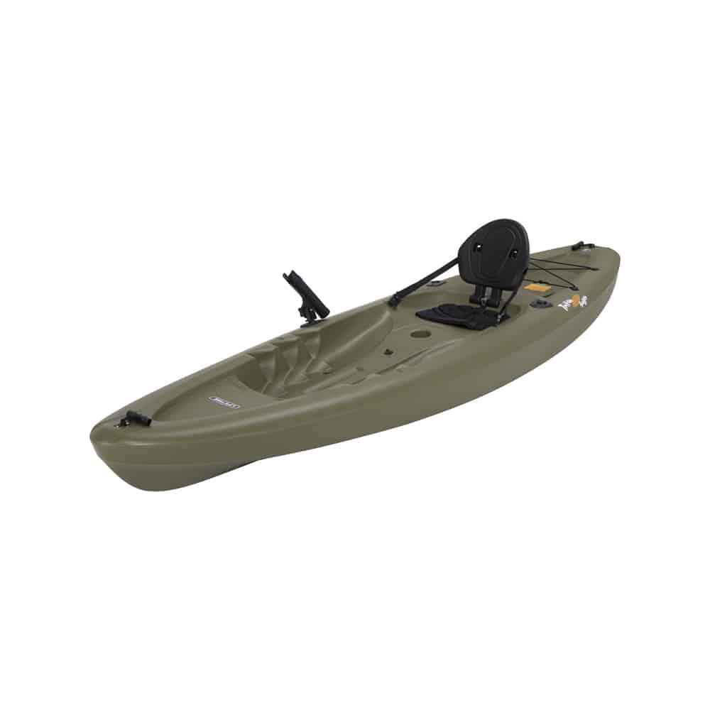 Lifetime triton angler 100 fishing kayak northwoods for Fishing from a kayak