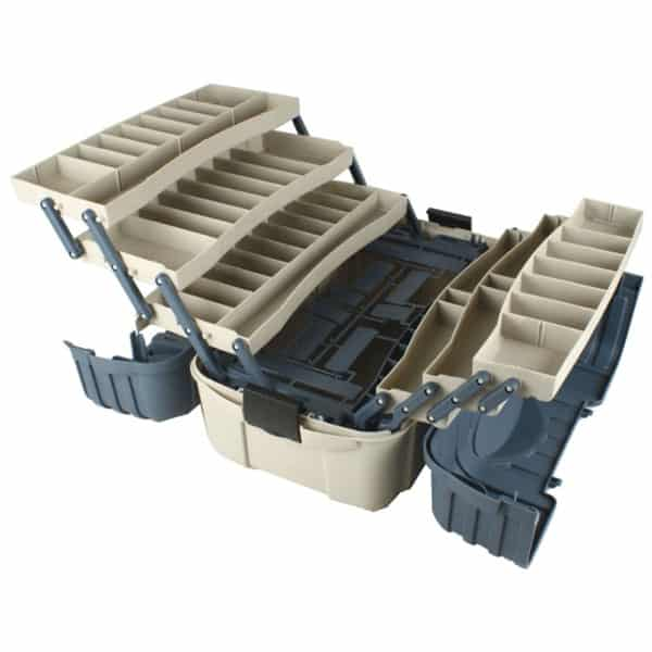 Flambeau 7 tray hip roof tackle box northwoods wholesale for Large tackle boxes for fishing