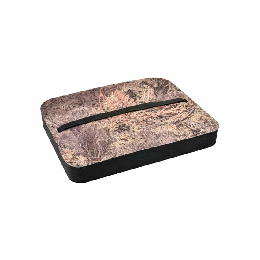 MOSSY OAK PREDATOR DELUXE CAMO HUNTING CUSHION – 2″ THICK!