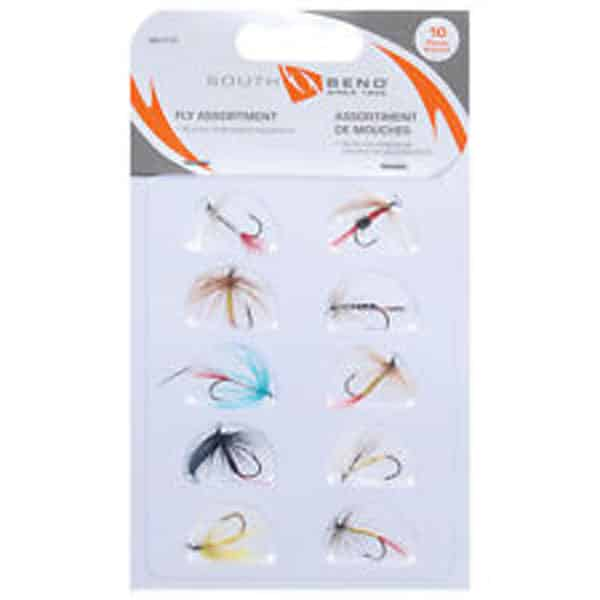 SOUTHBEND 10 PC FLY ASSORTMENT