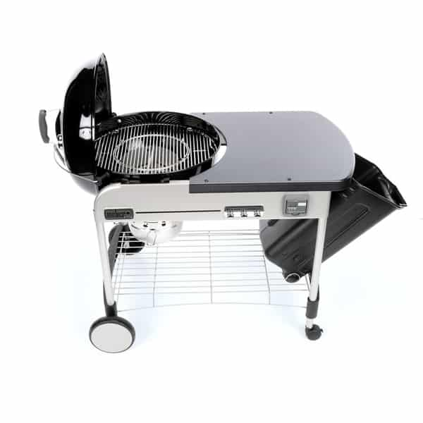 Weber 22 performer deluxe charcoal grill black for Weber performer deluxe