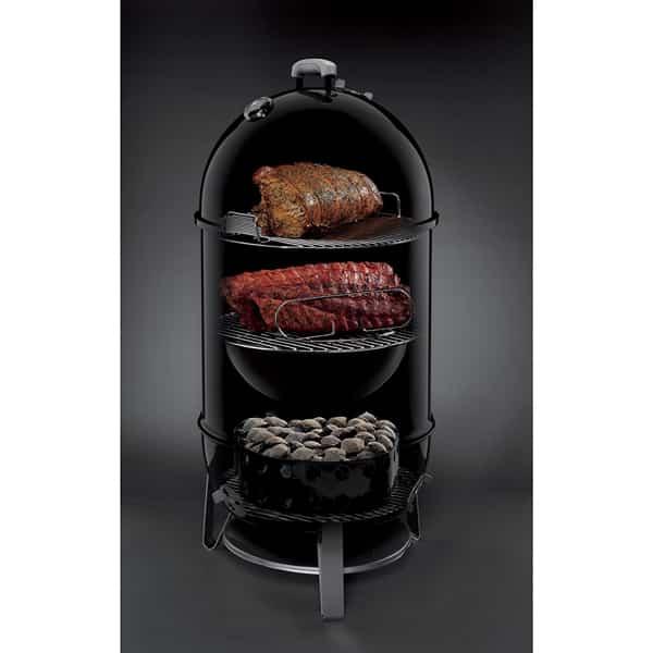 Weber Smoky Mountain >> Weber Smokey Mountain Cooker 18 Charcoal Smoker Black