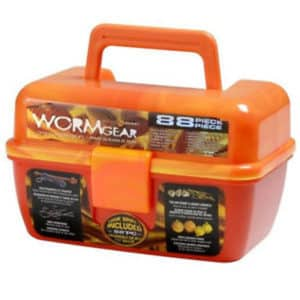 SOUTH BEND WORM GEAR 88-PIECE LOADED TACKLE BOX KIT