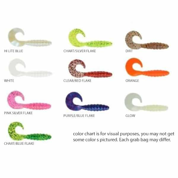 APEX CURLY TAIL GRUB GRAB BAG