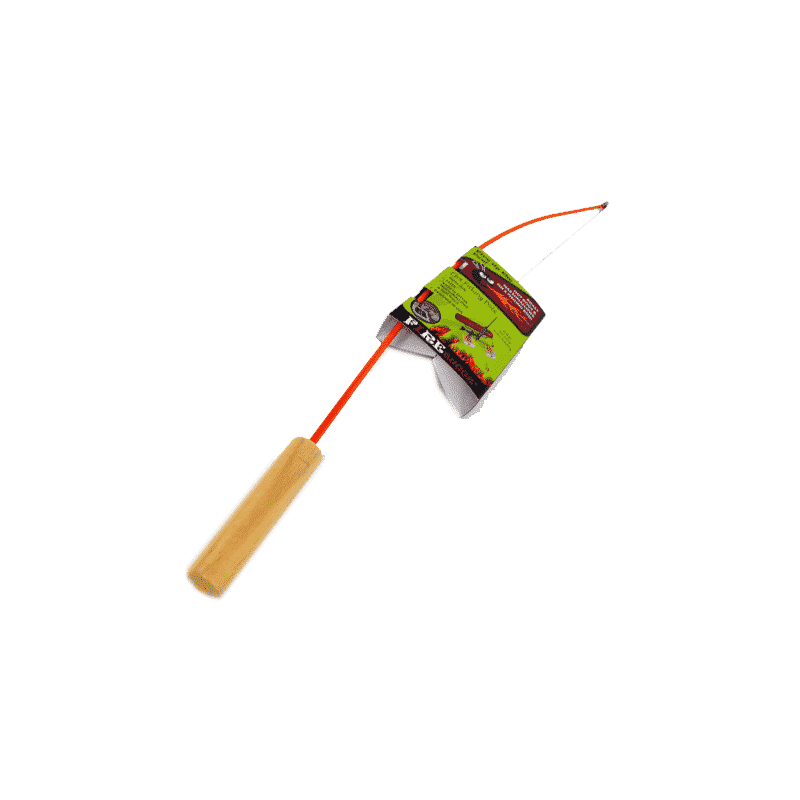 Fire buggz fishing pole hot dog marshmallow roaster for Fire fishing pole