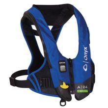 Full Throttle Vest M-24 Inflatable Life Jacket 200 Denier Nylon Blue//Grey