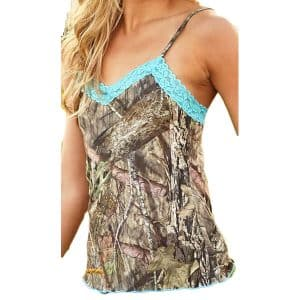WILDERNESS DREAMS AQUA LACE CAMI