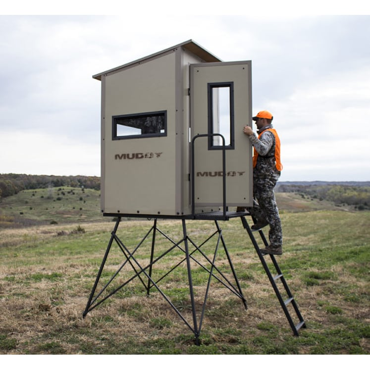 My idea for an elevated box elevated deer blind for Box blind platform