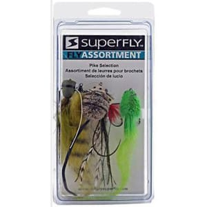 SUPERFLY FLY 38P PIKE ASSORTMENT FISHING LURE