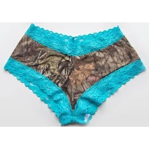 WILDERNESS DREAMS AQUA LACED TRIMMED BOY SHORT